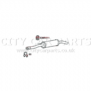 RANGE ROVER SPORT 3.0D 2009 TO 2013 EXHAUST REAR LEFT BACK BOX TAIL PIPE